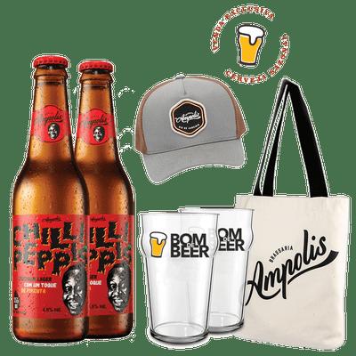 Kit-Cerveja-Ampolis-Chilli-Peppis-335ml---Acessorios